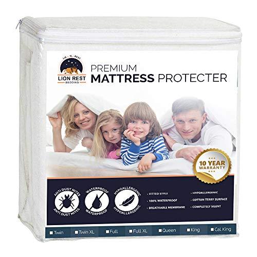Lion Rest Queen Size Premium Hypoallergenic Waterproof Mattress Protector - Vinyl ()