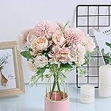 KIRIFLY Artificial Flowers, Fake Peony Silk
