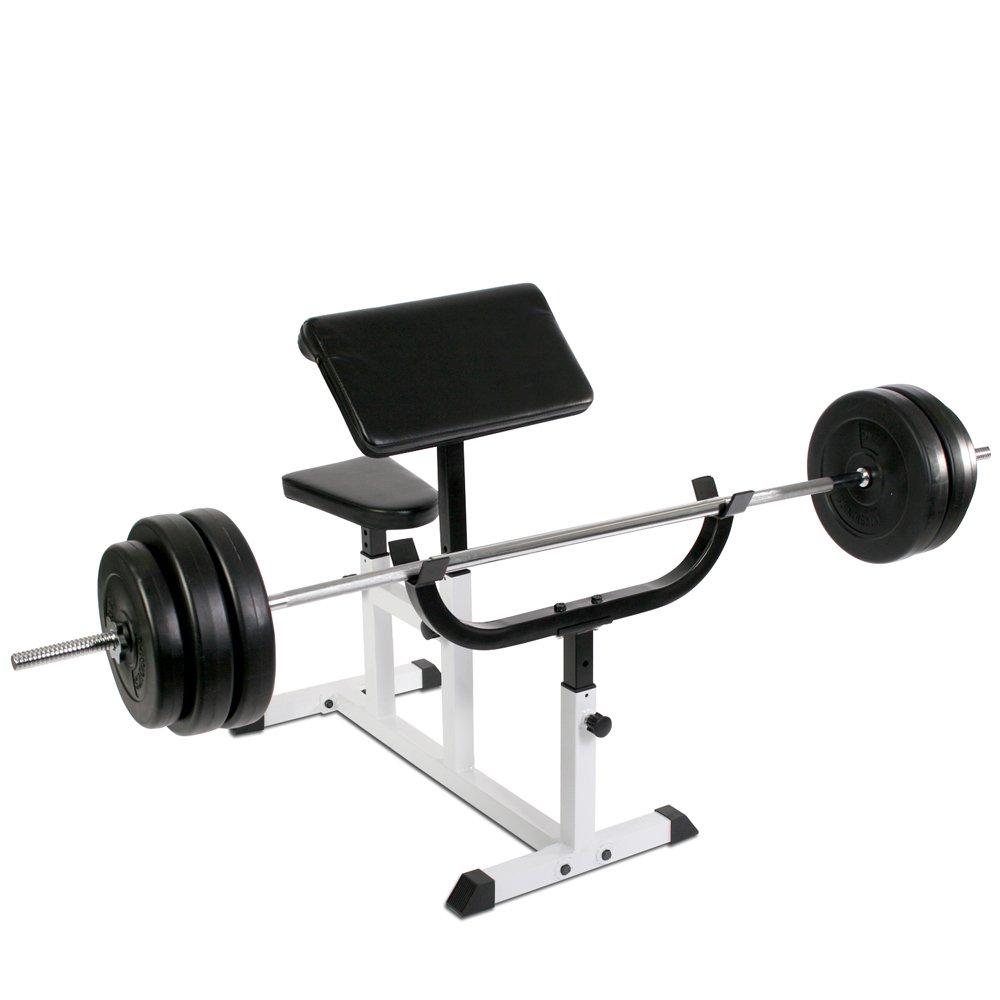 Banc de Musculation pour Biceps avec accoudoirs et Si/ège R/églables Physionics HNTLB09
