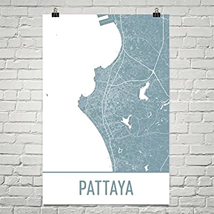 Amazon Com Pattaya Map Pattaya Art Pattaya Print Pattaya