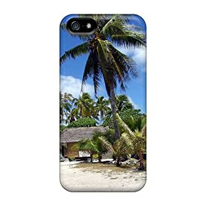 Ultra Slim Fit Hard ArtCart Case Cover Specially Made For Iphone 5/5s- Il Beach Palmtree