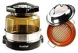 Nuwave Pro Plus Oven w/ 3'' Extender Ring & Durolon Ceramic BBQ Grill Pan