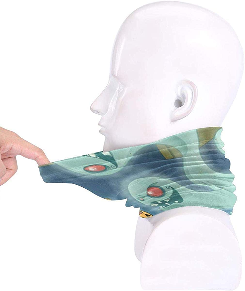 Halloween Ghost Microfiber Neck Warmer Balaclavas Soft Fleece Headwear Face Scarf Mask for Winter