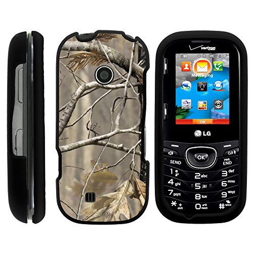 LG Cosmos 3 Case, Full Body Armor Snap On Hard Case Protector Cover with Customized Design for LG Cosmos 3 VN251S, LG Cosmos 2 VN251 (Verizon) from MINITURTLE   Includes Clear Screen Protector and Stylus Pen - Fallen Leaves Camouflage