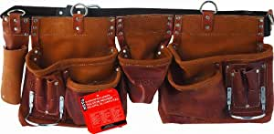Task Tools T77265 Carpenter's Apron, Oil-Tanned Split  with Leather Belt, 12-Pocket
