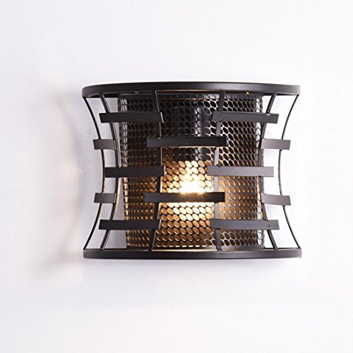 Edison Metal Mesh Cage Wall Sconce Vintage Wall Lantern (Bronze Vintage Wall Lantern)