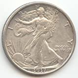 #10: 1917 Walking Liberty Half Dollar Choice About Uncirculated Details
