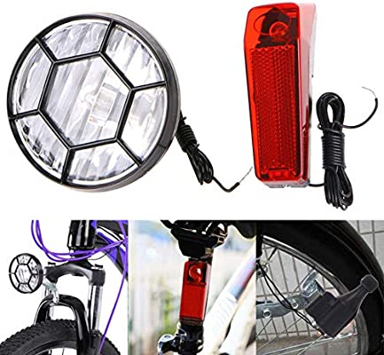 Tyrrrdtrd combinación de faros traseros para bicicleta, generador ...