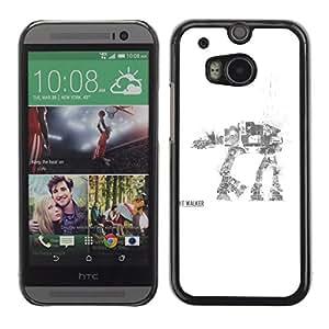 Caucho caso de Shell duro de la cubierta de accesorios de protección BY RAYDREAMMM - HTC One M8 - AT AT Walker