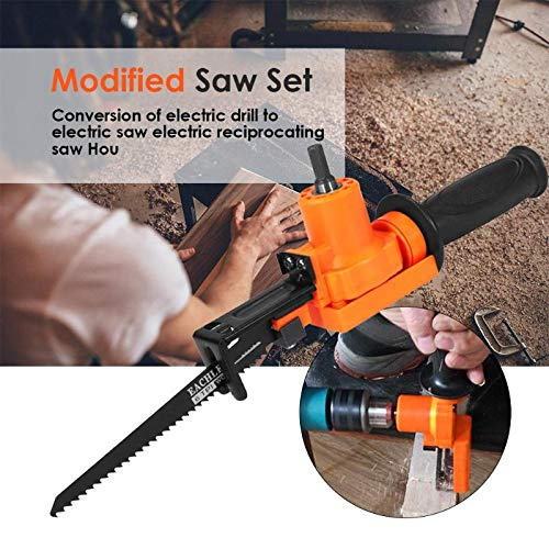 Mini Reciprocating Saw With New Design 2019, Household Portable Reciprocating Saw Metal Cutting Electric For Woodworking - Metal Blade Sawzall, Electric Metal Cutting Tools (Best Corded Reciprocating Saw 2019)