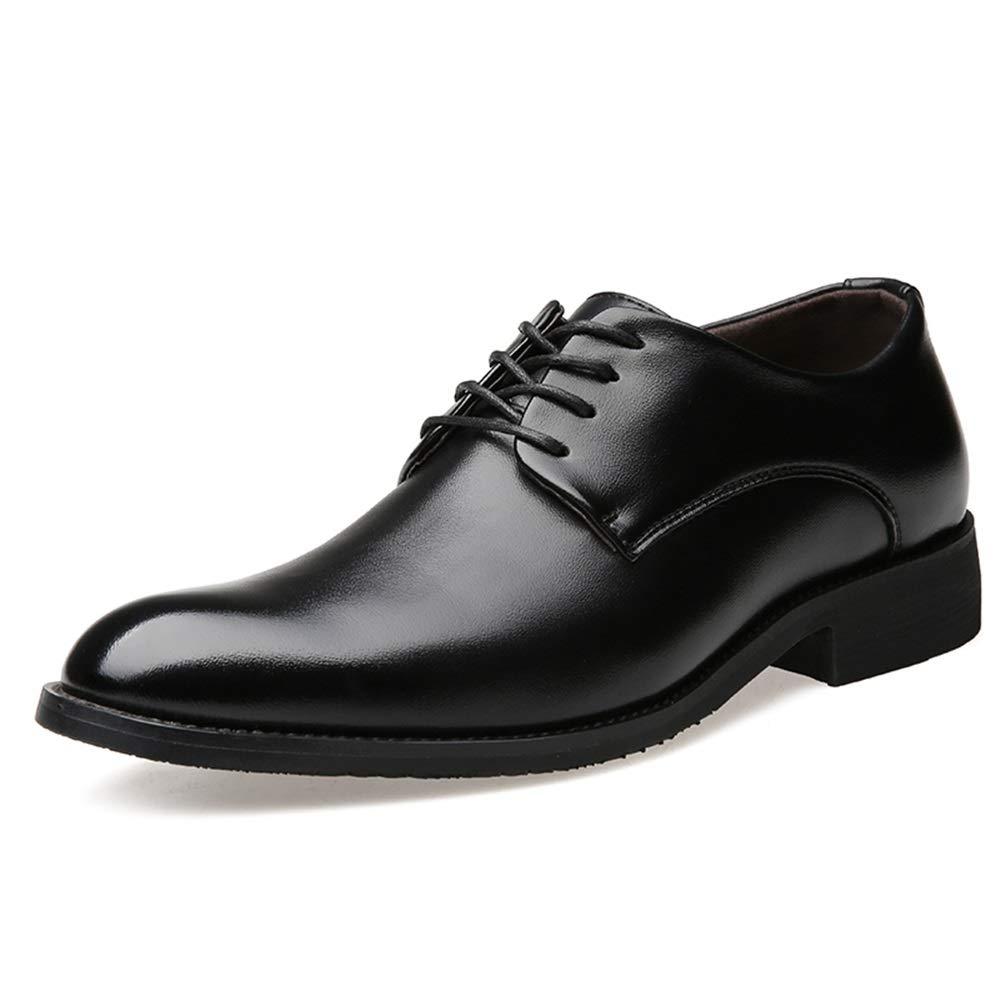 Jingkeke Cl/ásico de los Hombres con Cordones de Trabajo Oxfords de Negocios for Hombres Vestido de Fiesta Mocasines Zapatos Suela de Goma Antideslizante Vegana de Cuero sint/ético Suave Llamativo Moda