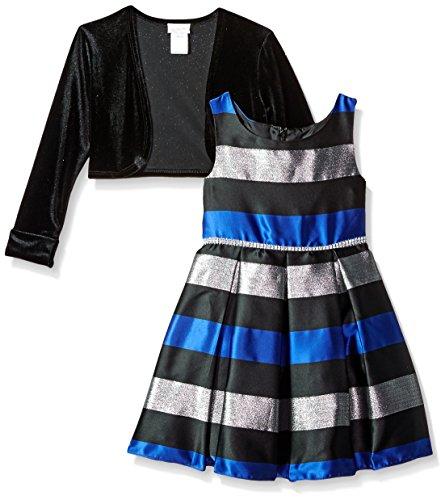 blue and black striped dress - 2
