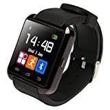 (US) U8 Bluetooth Smart Watch WristWatch Phone with Camera Touch Screen for Android OS and IOS Smartphone Samsung Smartphone (Black)