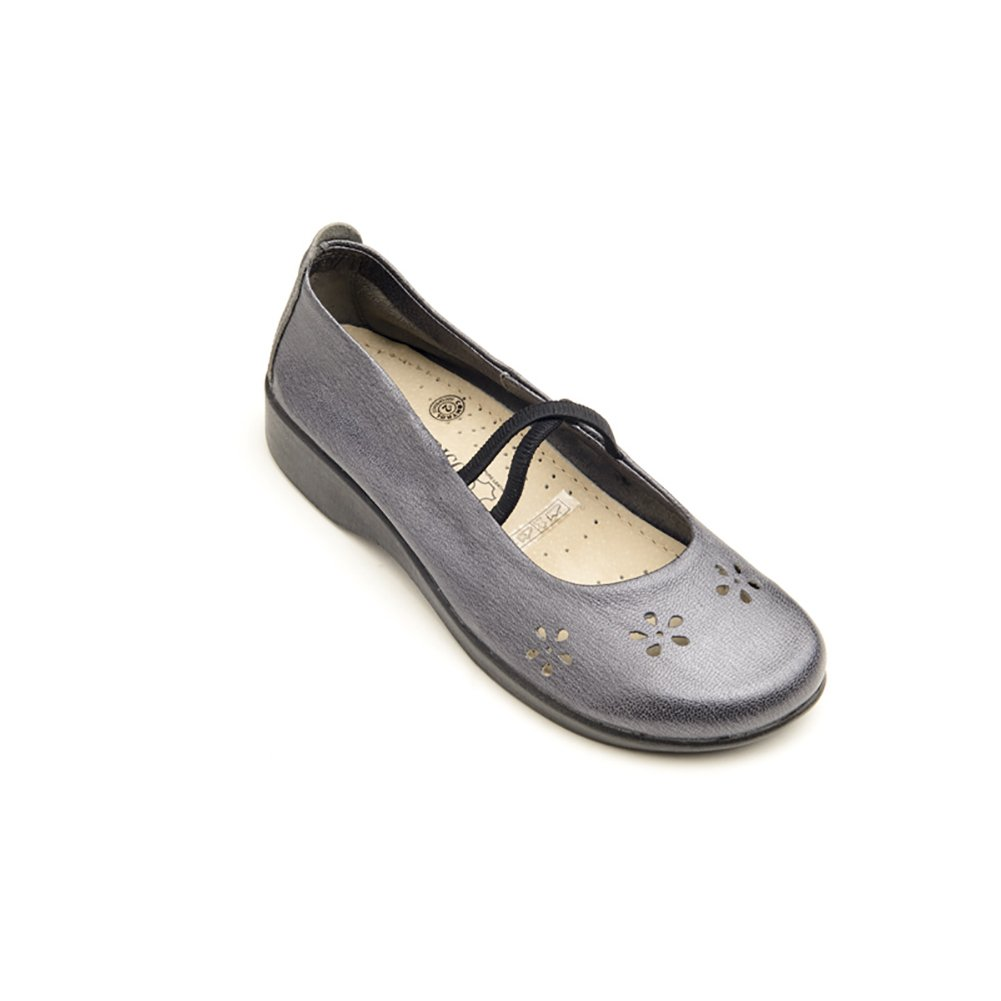 Arcopedico 6811 Flower Womens Flats Shoes B01LXQPC1H 42 EU|Pewter