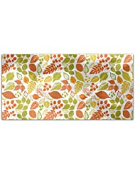 Bright Foliage Rectangle Tablecloth Large Dining Room Kitchen Woven Polyester Custom Print