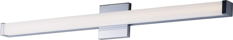"Maxim 52006PC Spec ADA & JA8 Compliant Energy Star Acrylic LED Bath Vanity Bar Wall Mount, 1-Light 24 Watt, 2""H x 36""W, Polished Chrome"