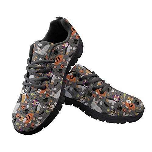 Halloween up Lace Flats Mummy Walking Coloranimal Women Ghost Running Fashion Sneakers Casual Corgi Vampire Costume x0qqavYw