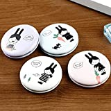 YChoice Cute Baby Toy Mini Round Cartoon Little Girl Pattern Small Glass Mirrors Circles for Crafts Decoration Cosmetic Accessory