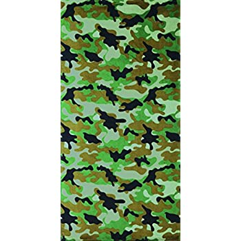 Green Camouflage Brazilian Velour Beach Towel 30x60 inches
