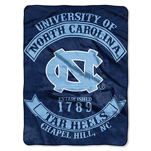 (The Northwest Company Officially Licensed NCAA North Carolina Tar Heels Rebel Plush Raschel Throw Blanket, 60