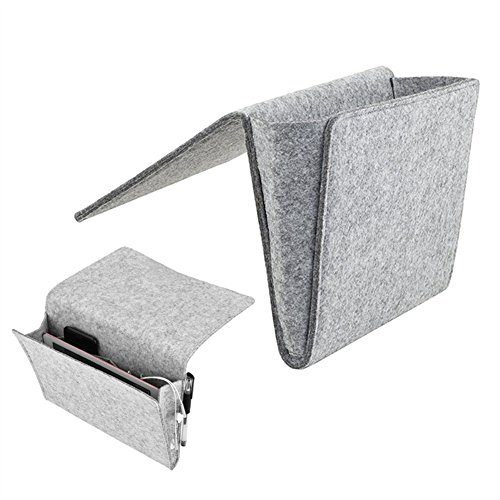 (angel3292 Felt Household Bed Sofa Table Side Storage Stuff Hanging Container Bag Pouch)