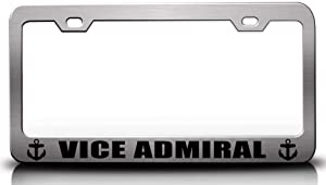 Custom Brother - VICE Admiral Navy Steel Metal License Plate Frame Ch