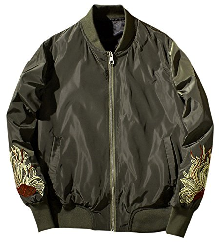 LETSQK Lightweight Embroidery Baseball Bomber product image