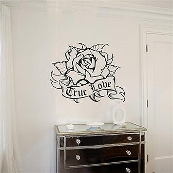 etiqueta de la pared pegatina de pared frases Rose Living Room ...