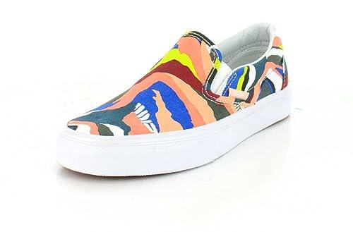 Vans Classic Slip-on Multi/Gray Ridge/True White: Amazon.es: Zapatos y complementos