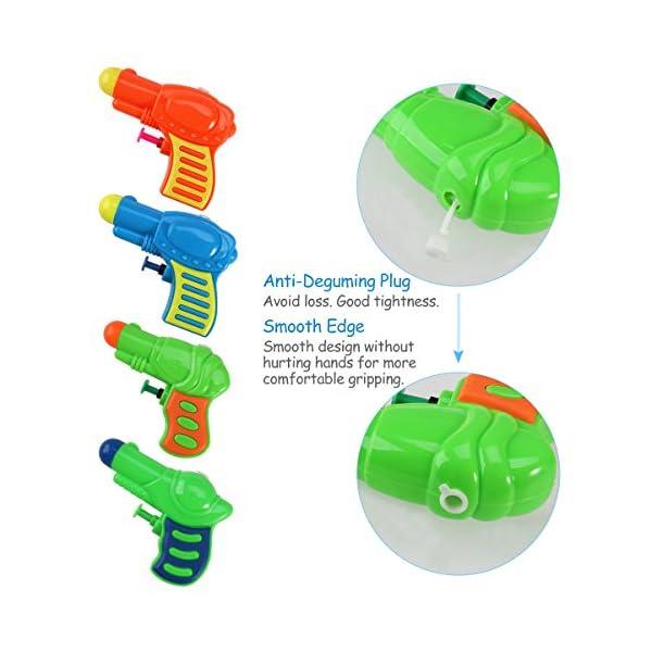 TOYMYTOY Acqua pistola Squirt pistola di plastica per bambini confezione da 12 (colore casuale) 3 spesavip