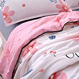 KFZ Summer Cool Quilt (Teens Twin Full Queen size) Comforter for Bed Set No Pillow Cover Sheets ZL Nordic Scenery Flower Modern Design For Children Adults (Dance Flower,Pink, Twin,59''x79'')
