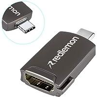 Redlemon Adaptador USB C a HDMI, Plug & Play, para Audio y Video. Compatible con Laptops y Smartphones (Samsung S8, S9, S10, Huawei P20, Mate 20, Mate 10), Macbook, Macbook Pro, LG V30, V20 y más