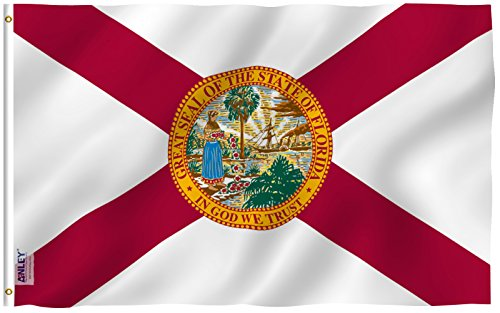 Anley Fly Breeze 3x5 Foot Florida State Polyester Flag - Viv
