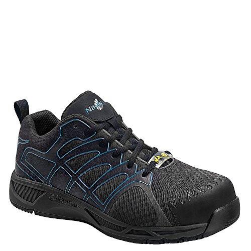 Nautilus 2436 Mens Geavanceerde Esd Nano Carbon Veiligheidsschoen Atletische Werkschoen Grijs, Blauw