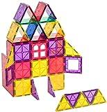 Playmags Clear Colors Magnetic Tiles Building Set 60 Piece Starter Set