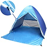 Pop Up Beach Tent,PortableFun UV Sun Tent,Instant Tent,Portable Sun Shelter,2-3 Person Camping Tent