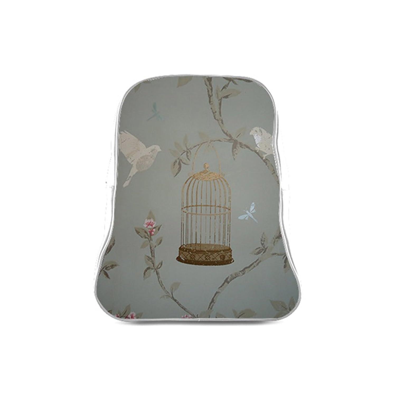 Custom Bird Cage Interest Print PU Leather Children School Bag(Small)