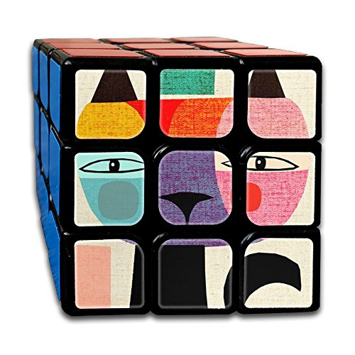 Jigsaw Puzzle Of Cat Fashion Rubik's Cube Original Design 3x3x3 Magic Square Puzzles Finger Game Portable Toys-Anti Stress Practice Patience For Anti-anxiety Adults (Halloween Jigsaw Puzzles To Print)