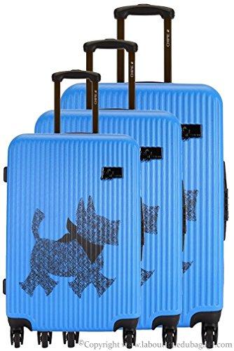 Chipie-Lot de 3 trolleys Rigides SPR Bleu