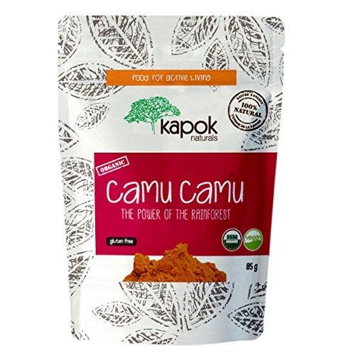 Kapok Naturals Camu Camu Powder Organic Raw Wholefood Vitamin C 3 oz. High in Antioxidants & Strengthens Immune System. Our Camu Berry has 9x the Vitamin C of an Orange. Enjoy! - Powder Camu