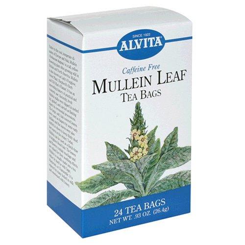 Alvita Tea Bags, Mullein Leaf, Caffeine Free, 24 tea bags [0.93 oz (26.4 g)] (Pack of 3)