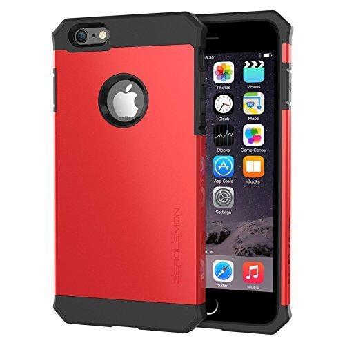 "iPhone 6S Plus Slim Case, ZeroLemon Razor Armor Dual Layer Protective Case for iPhone 6/6s Plus 5.5""(Fits All Versions of iPhone 6/6s Plus)[180 days ZeroLemon Warranty Guarantee] - Sharp Red"