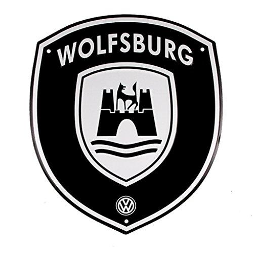 Genuine Volkswagen VW Wolfsburg Crest Garage Street Sign