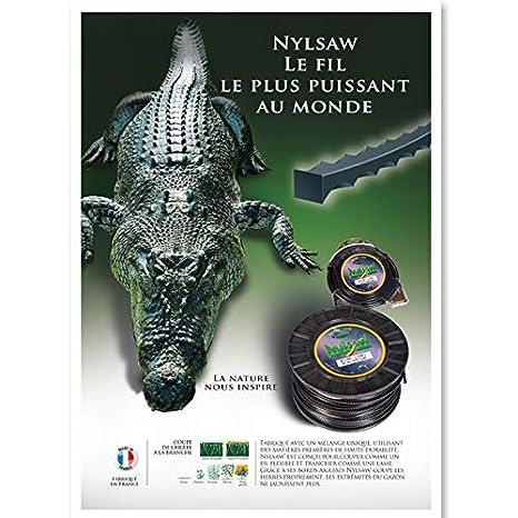 Hilo desbrozadora dentado Nylsaw 3,50mm x 27 Mt