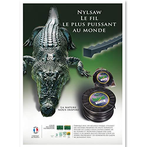 Hilo desbrozadora dentado Nylsaw 3,50mm x 27 Mt: Amazon.es ...