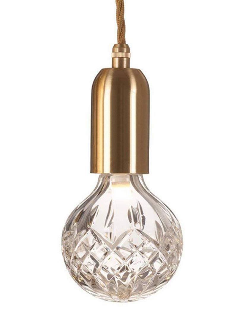 W&HH Kronleuchter Eisen Pendelleuchten, Mini Kreative LED Glas Kristall Gold Dekorative Deckenleuchte Modernen Minimalistischen Wohnzimmer Korridor Esszimmer