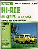 Toyota Hi-Ace Rh Series, 18 R-C Engine 1977/1983: Van Bus 2000cc (Gregory's service & repair manual)