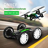 Image of DIY RC Drone Quadcopter Car Buggy with Camera Live Transmission HD Wifi Mobile Handy Remote Control 360 ° Flip RC Toy LED Lighting Headless Mode 6-Axis Gyro 4 Channels 2x Batteries by DNYCF