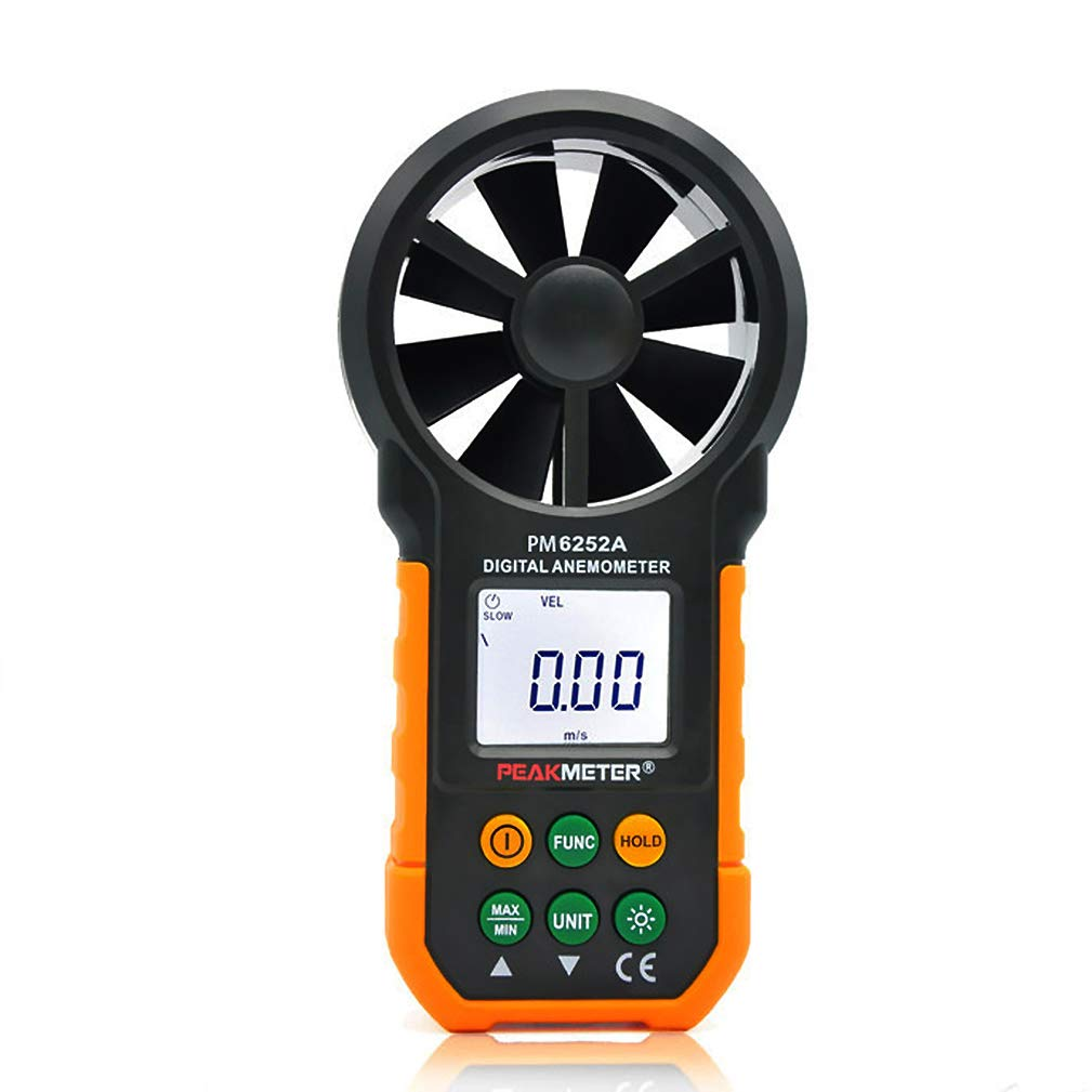 Digital Anemometer Wind Speed Temperature Humidity Tester Air Flow Meter with USB Real Time Data (PM6252A) by ThreeCat