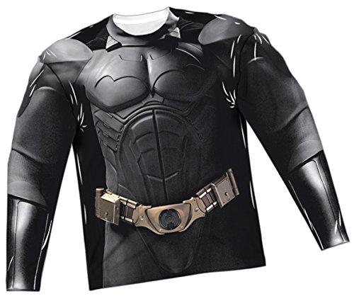 - Batman Costume -- Batman Begins All-Over Long-Sleeve T-Shirt, XXX-Large